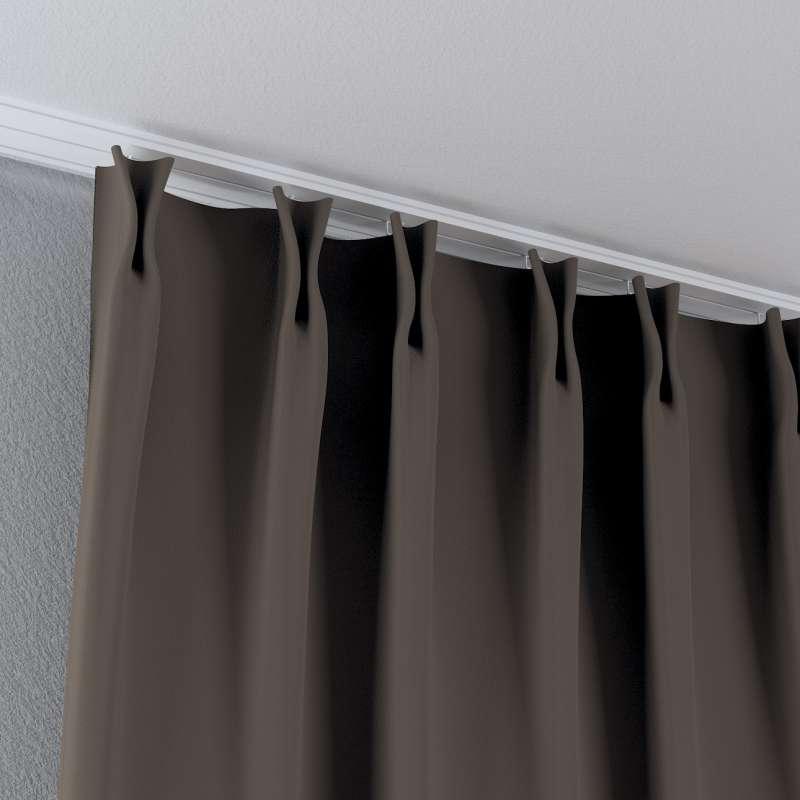 Zasłona na haczykach flex w kolekcji Blackout - zaciemniające, tkanina: 269-80