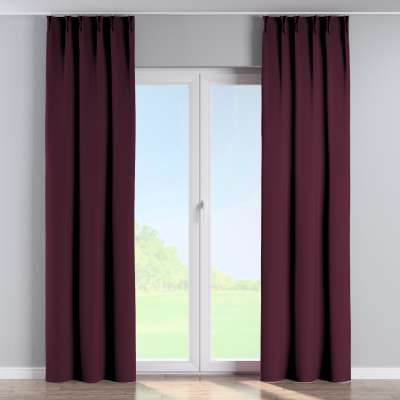 Vorhang mit flämischen Falten 269-53 violett Kollektion Blackout (verdunkelnd)