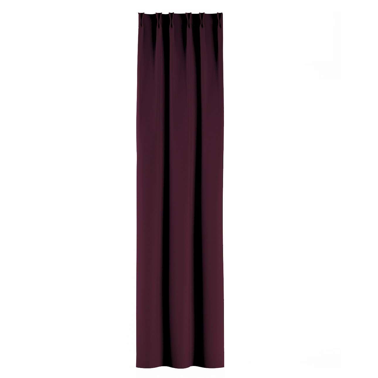 Zasłona na haczykach flex w kolekcji Blackout - zaciemniające, tkanina: 269-53