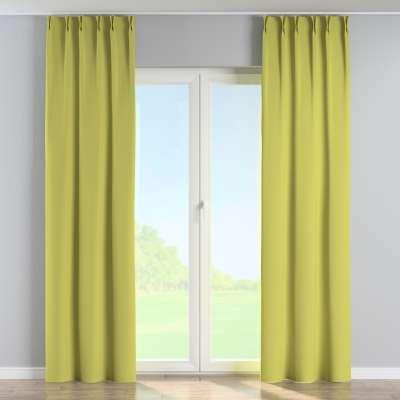 Vorhang mit flämischen Falten 269-17 grün Kollektion Blackout (verdunkelnd)