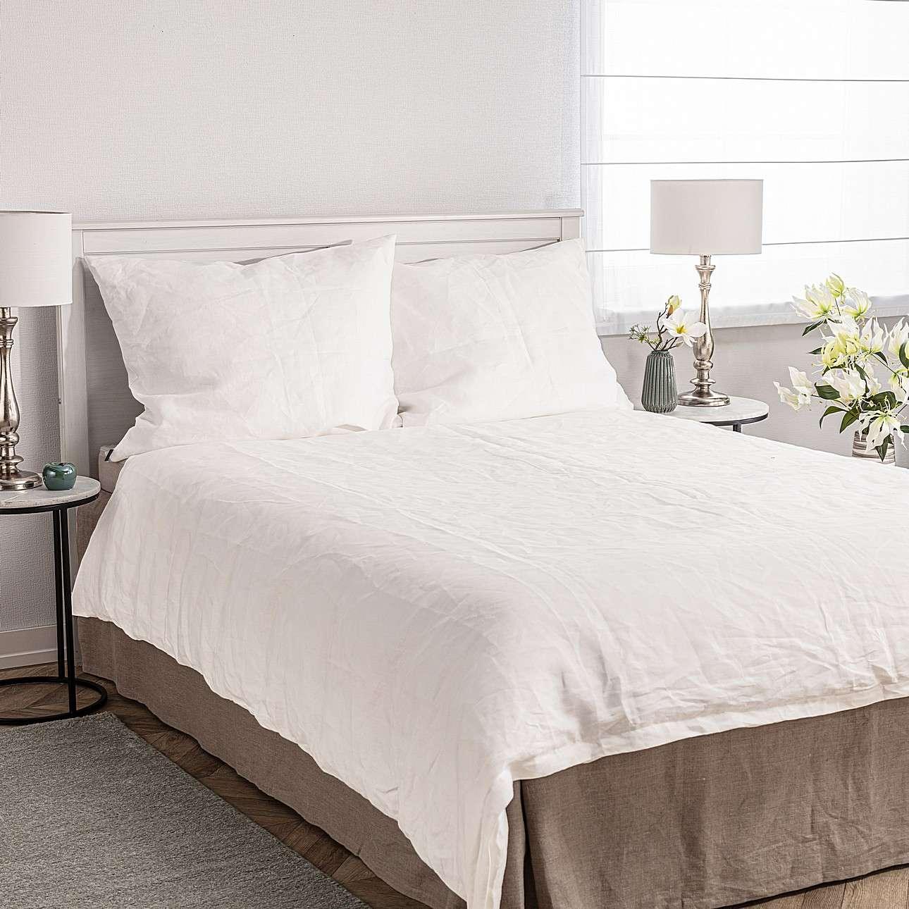 Ložní povlečení Linen 160x200cm white