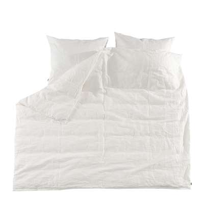 Komplet pościeli lnianej Linen 160x200cm white