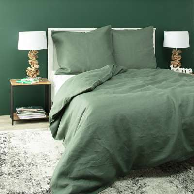 Komplet pościeli lnianej Linen 160x200cm green