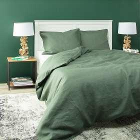 Bettwäscheset Linen 200x200cm green