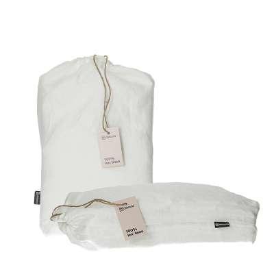 Komplet pościeli lnianej Linen 200x200cm white