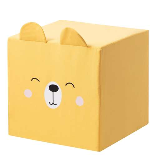 Rainbow Bear cube pouf