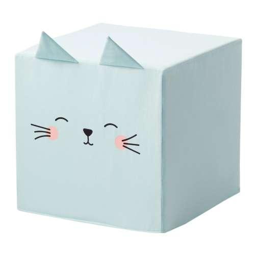 Rainbow Kitty cube pouf