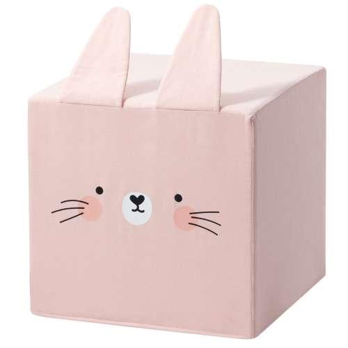 Rainbow Rabbit cube pouf