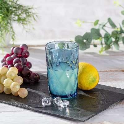Glas Basic Blue 350ml Aardewerk - Dekoria.nl