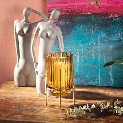 Świecznik Aliza 17,5cm yellow