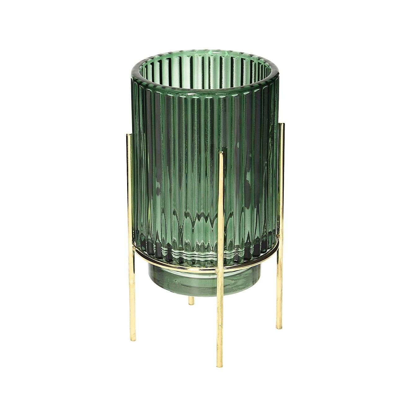Świecznik Aliza 17,5cm green