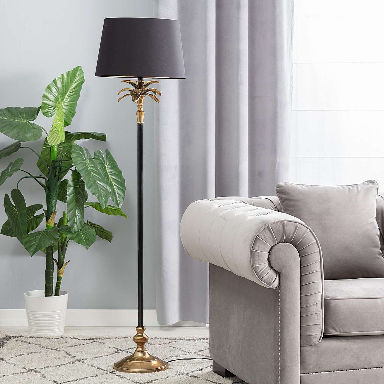 Lampa podłogowa Palm Gold 157cm