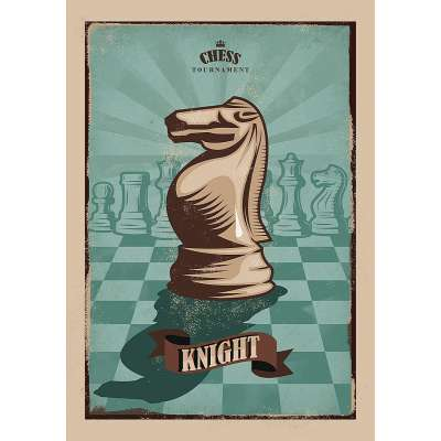 Obraz na plátně Vintage Chess I Dekorace - Dekoria-home.cz