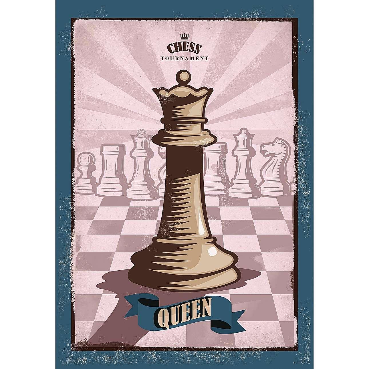 Obraz na plátně Vintage Chess II