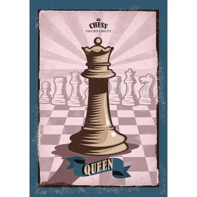 Obraz na plátně Vintage Chess II Dekorace - Dekoria-home.cz