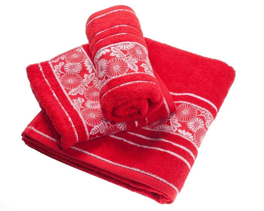 Castelo Towel - Red 50x100cm