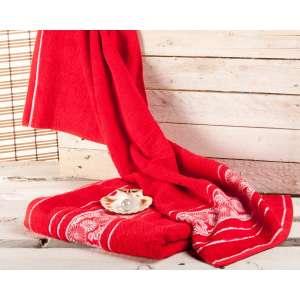 Handtuch Castelo 50x100cm rot 50x100cm