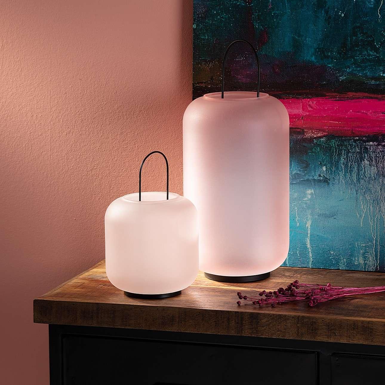 Leuchter/Laterne Pure 45cm pink