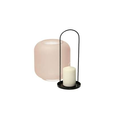 Leuchter/Laterne Pure 30cm pink