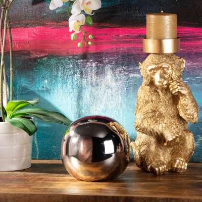 Dekoobjekt Glass Ball 15cm silver Dekofiguren & Objekte - Dekoria.de