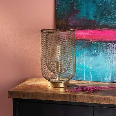 Tischlampe Campos 35 cm gold Lampen - Dekoria.de