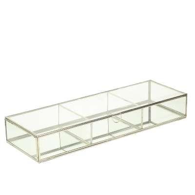 Szklana szkatułka Alessia 50x17x7,5cm Pudełka i pojemniki - Dekoria.pl