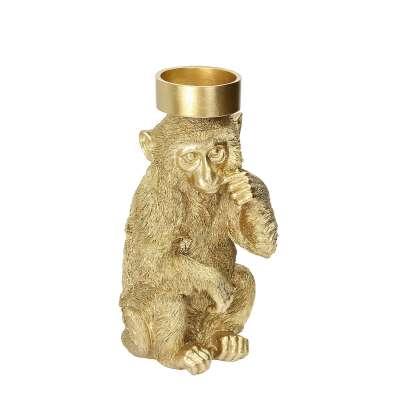 Świecznik Monkey Gold 31cm