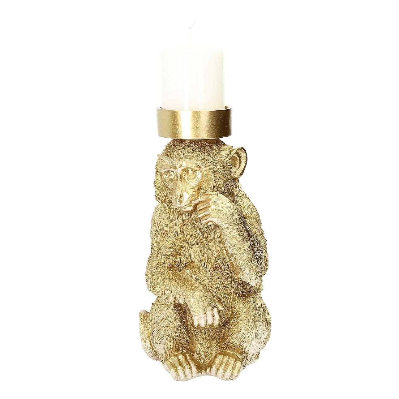 Leuchter Monkey Gold 31cm