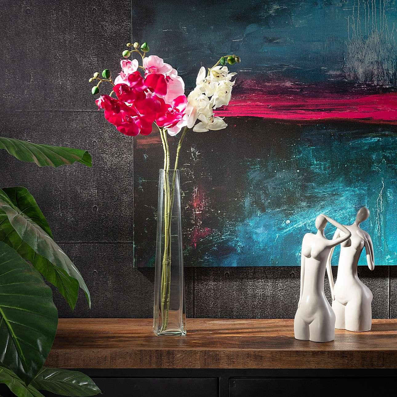 Kunstblume Orchidee White 65cm