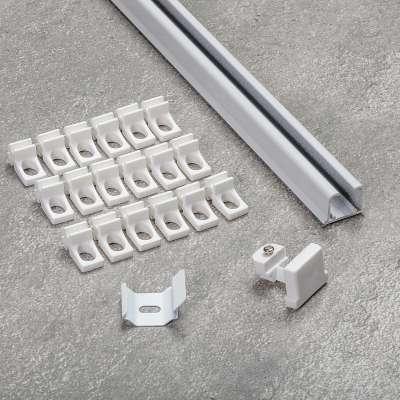 Komplet- szyna przysufitowa aluminiowa TS pojedyncza 150cm Szyny przysufitowe - Dekoria.pl