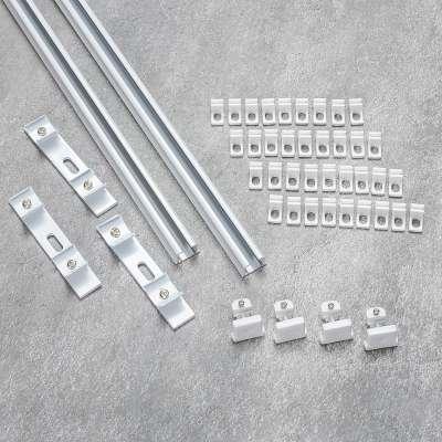 Komplet- szyna przysufitowa aluminiowa TS podwójna 150cm Szyny przysufitowe - Dekoria.pl