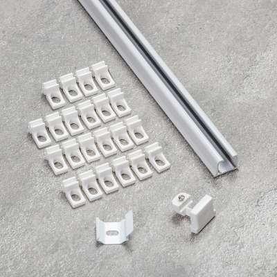 Aluminium-Vorhangschiene1-läufig im Set 180cm Deckenschienen - Dekoria.de