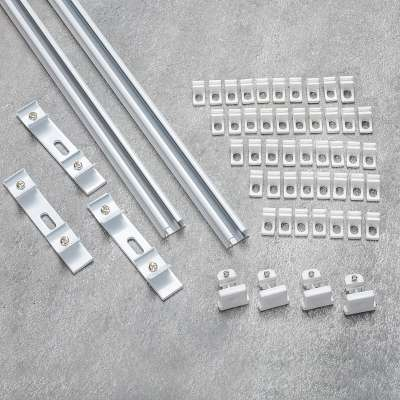 Komplet- szyna przysufitowa aluminiowa TS podwójna 180cm Szyny przysufitowe - Dekoria.pl