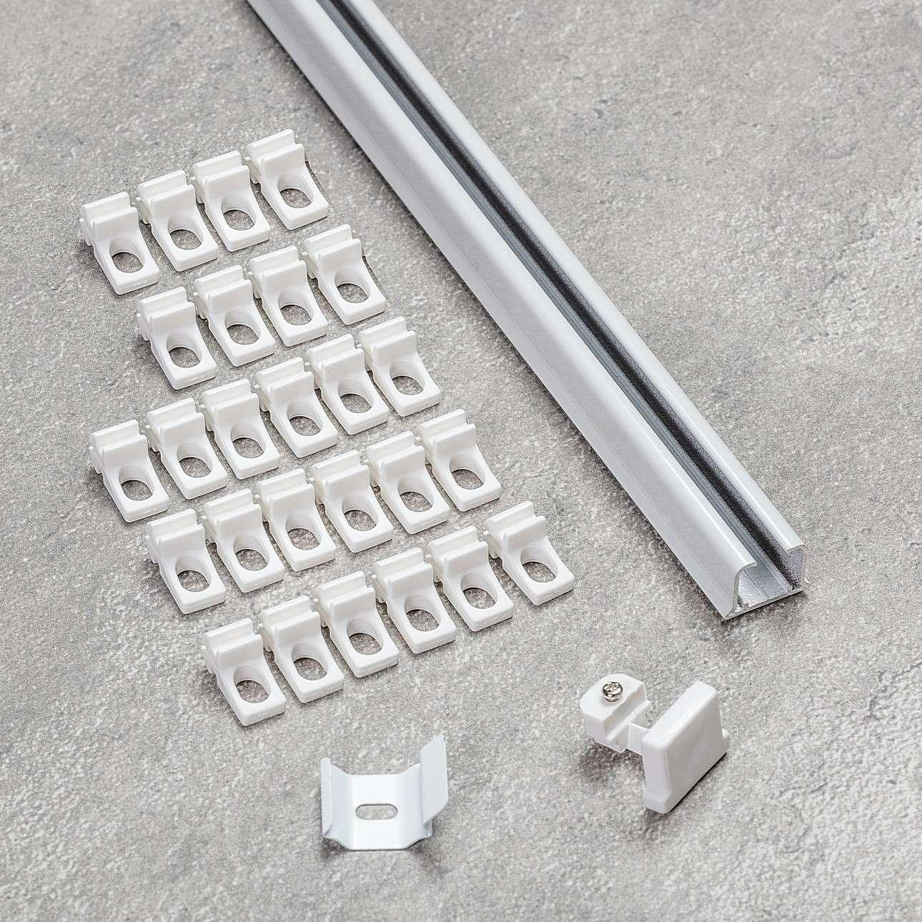 Komplet- szyna przysufitowa aluminiowa TS pojedyncza 210cm