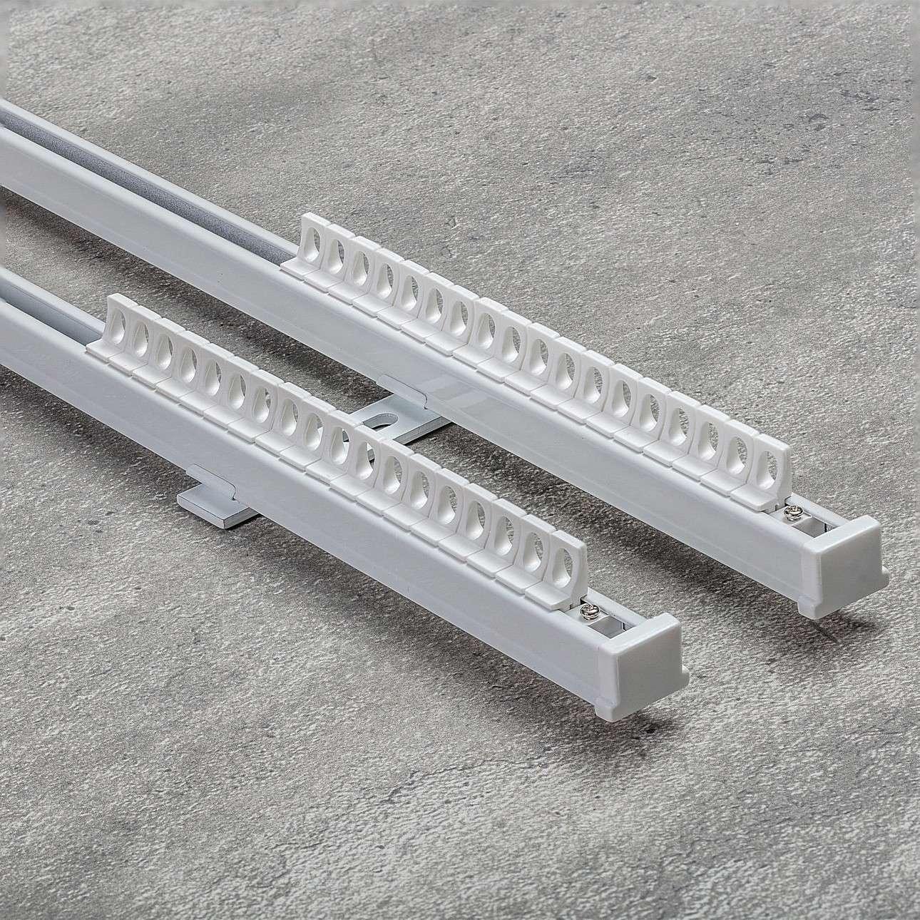Komplet- szyna przysufitowa aluminiowa TS podwójna 210cm