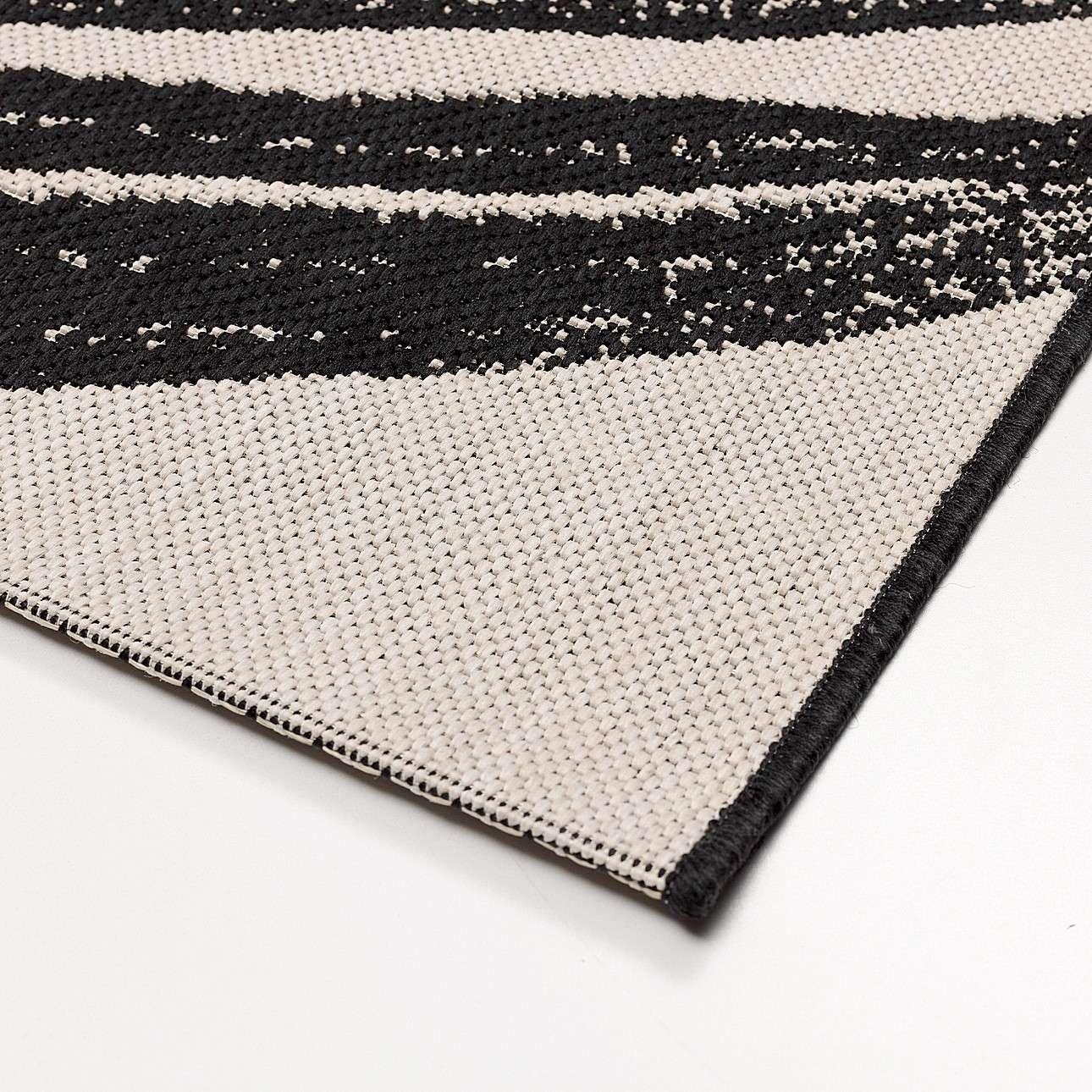 Teppich Lineo wool/black 120x170cm