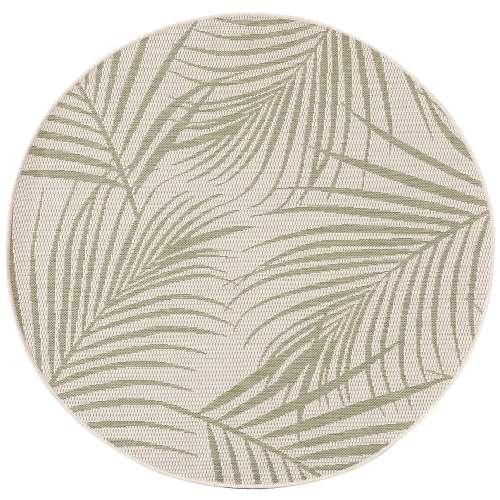Vloerkleed Lineo wool/ jungle green 120cm
