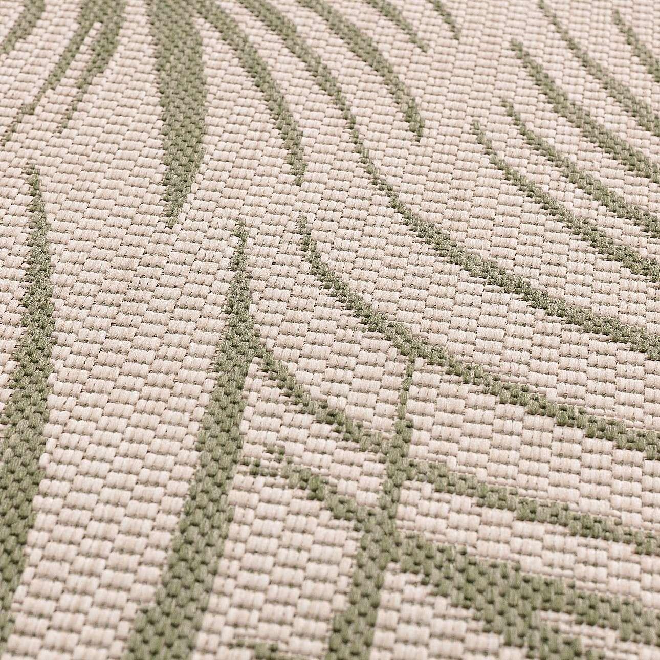 Teppich Lineo wool/ jungle green 120cm