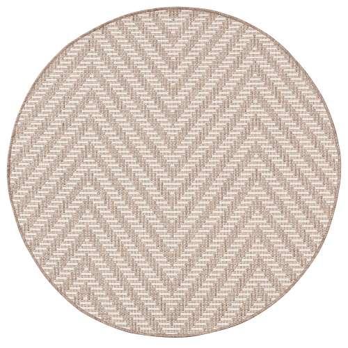 Vloerkleed Lineo wool/mink 120cm