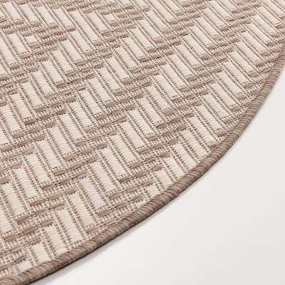 Teppich Lineo wool/mink 120cm Teppiche - Dekoria.de