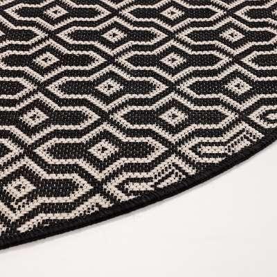 Teppich Lineo black wool 120 cm Teppiche - Dekoria.de
