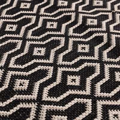 Dywan Lineo black/wool 120cm