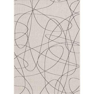 Koberec Lineo wool/ black 120x170cm Koberce - Dekoria-home.cz