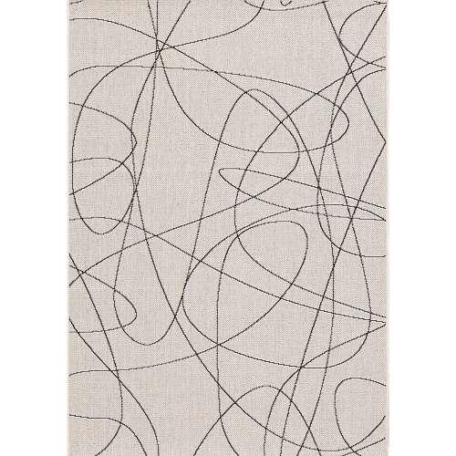 Koberec Lineo wool/ black 120x170cm