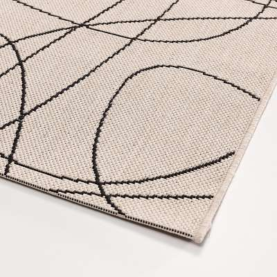 Teppich Lineo wool/ black 120x170cm Teppiche - Dekoria.de