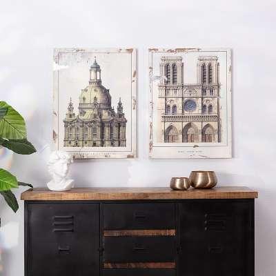 Obraz na drewnie Notre Dame 60x80cm