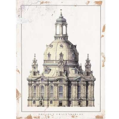 Bild auf Holz Frauenkirche
