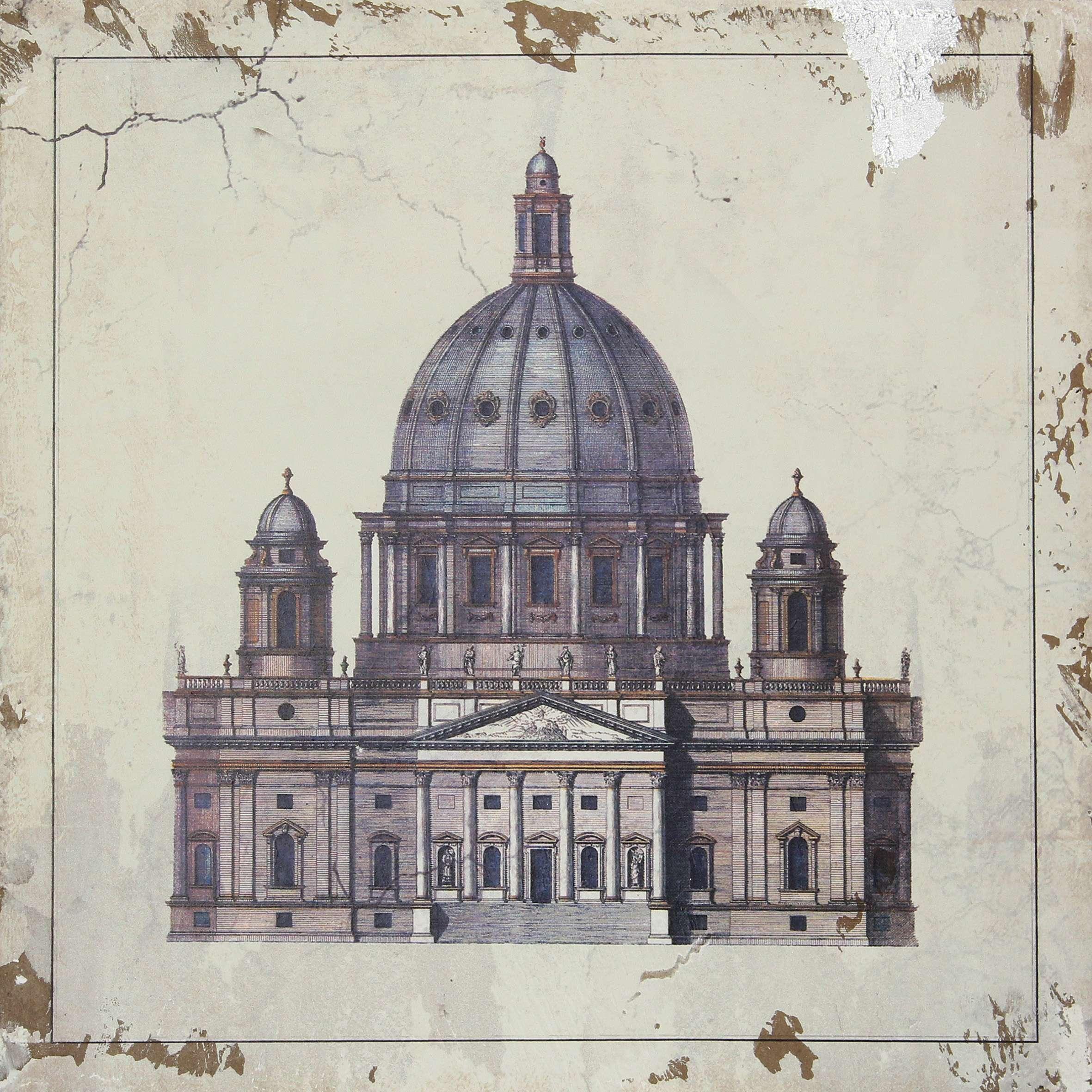 Bild auf Holz St Peter 40x40cm