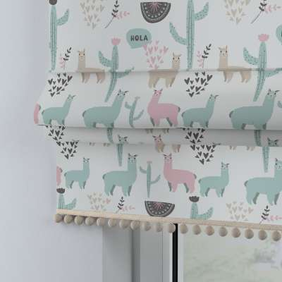 Roman blind with pompoms 500-01  Collection Magic Collection