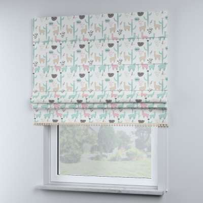 Roman blind with pompoms in collection Magic Collection, fabric: 500-01